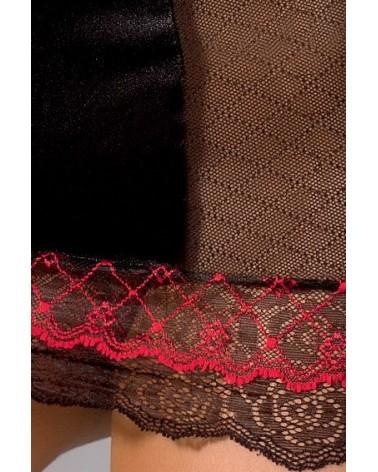 LANKA fekete piros csipkés hálóing Outlet