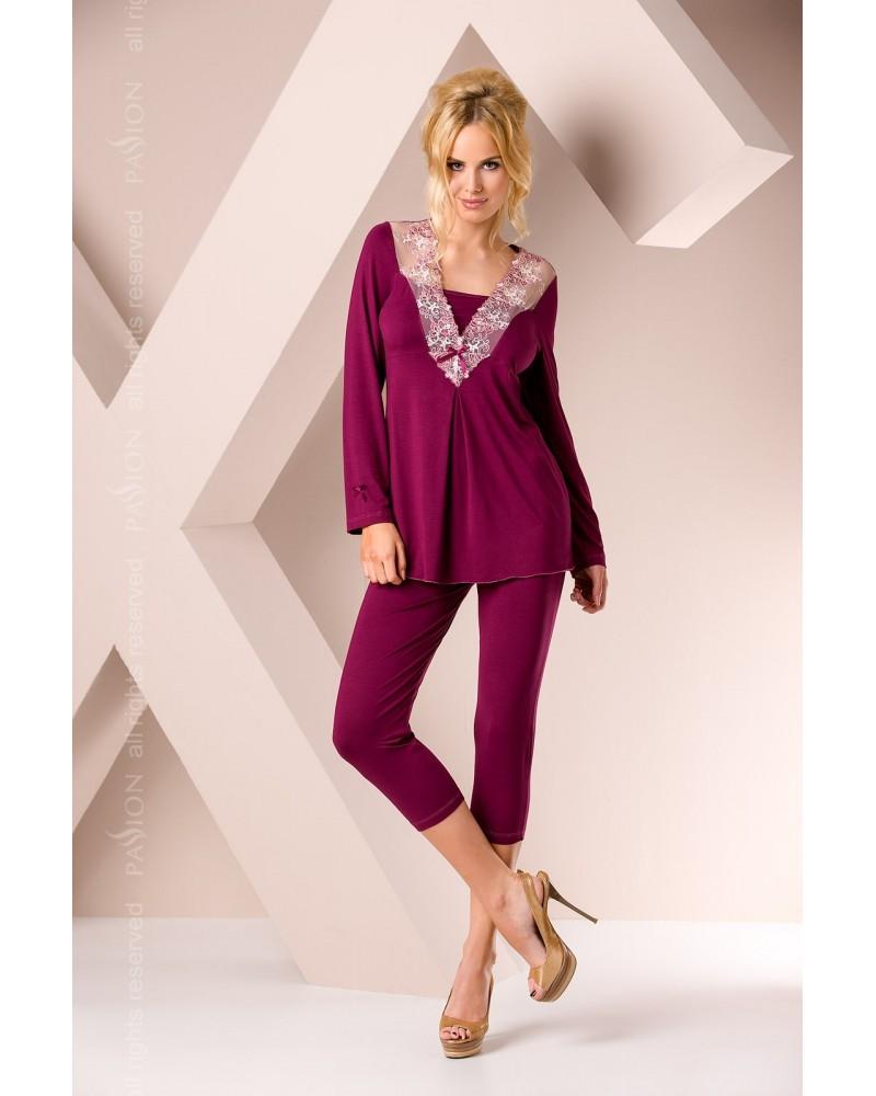Bordó csipkés pizsama Outlet