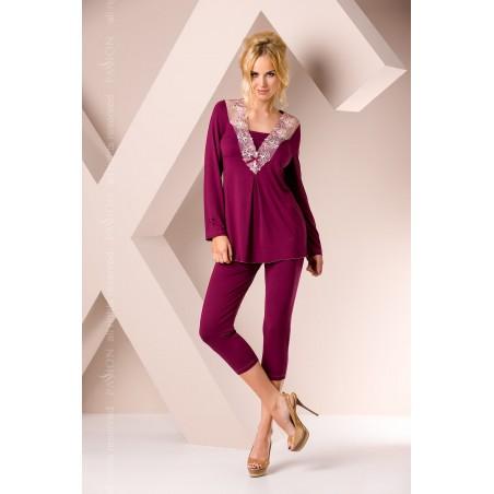 Bordó csipkés pizsama