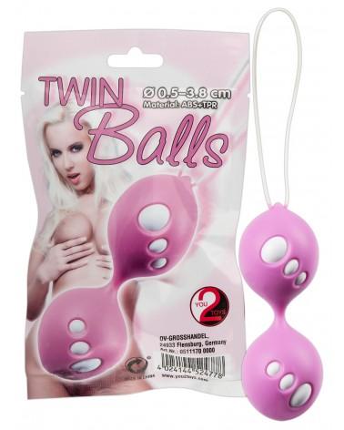 Twin Balls - gésagolyó duó (pink) Gésagolyó