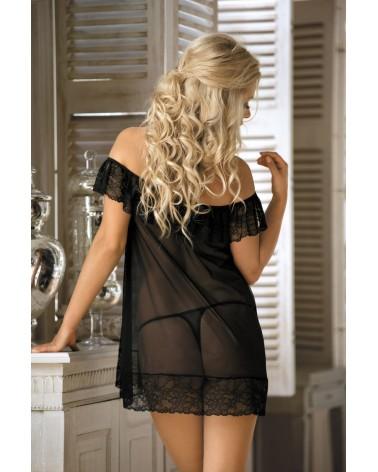Cloe fekete csipkés hálóing Excellent Beauty