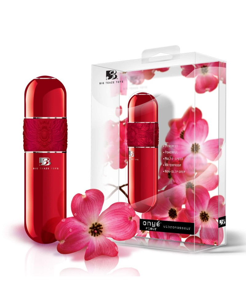 B3 Onyé Fleur - klasszikus rúdvibrátor (piros) Vibrátorok