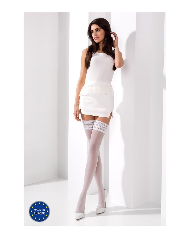 Bianca fehér színű combfix (17 Den) Combfix  Passion