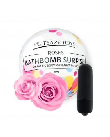 Big Teaze Toys - fürdőbombába rejtett minivibrátor (rózsa) Vibrátorok