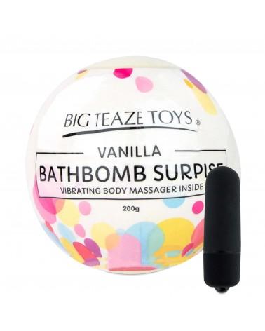 Big Teaze Toys - fürdőbombába rejtett minivibrátor (vanília) Vibrátorok