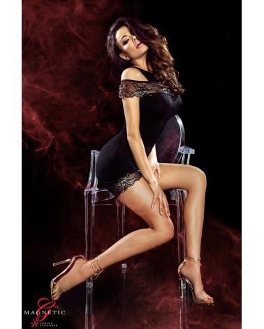 Marissa fekete erotikus ruha ajándék Durex óvszerrel Erotikus ruhák  Demoniq