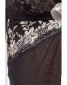 Astra peignoir fekete csipkés hálóing