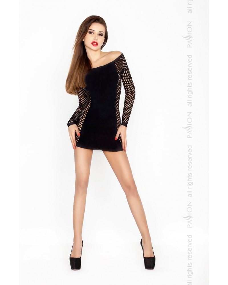 Brittany erotikus ruha, fekete színben