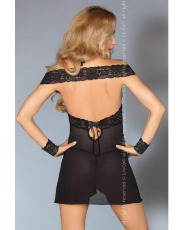 Afica fekete csipkés ruha Livia Corsetti