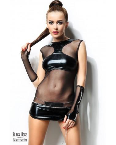 Anette 3 részes fekete szett Erotikus ruhák