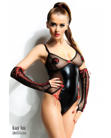 Hannah 2 részes fekete body Demoniq