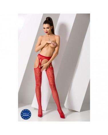 Leander piros szexi harisnya Nyitott harisnya